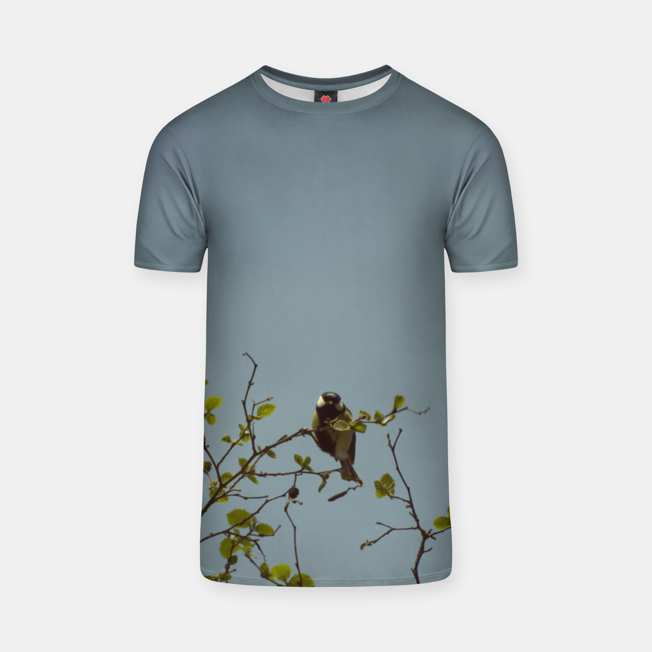 Image of Great tit on a branch T-shirt - Live Heroes