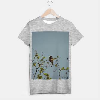 Great tit on a branch T-shirt regular thumbnail image