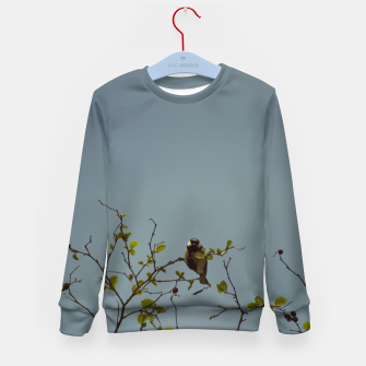 Great tit on a branch Kid's sweater thumbnail image