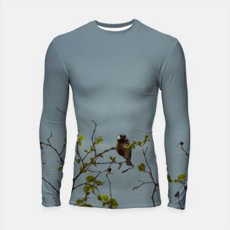 Great tit on a branch Longsleeve rashguard  thumbnail image