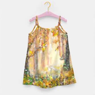 Miniatur Magical Forest 600dpi scan of original acrylic art Girl's dress, Live Heroes