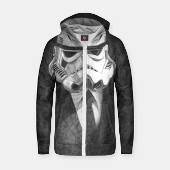 Thumbnail image of stormtrooper Zip up hoodie, Live Heroes