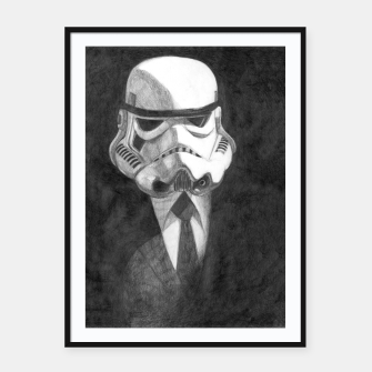 Thumbnail image of stormtrooper Framed poster, Live Heroes