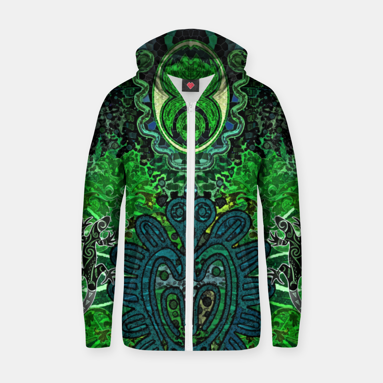 Image of Jungle heart Zip up hoodie - Live Heroes