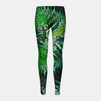 Jungle heart Girl's leggings thumbnail image