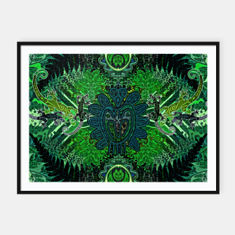 Jungle heart Framed poster thumbnail image