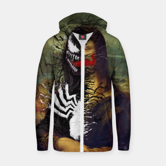 Mona Lisa Venom Zip up hoodie thumbnail image