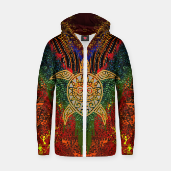 Turtle Worship Zip up hoodie thumbnail image