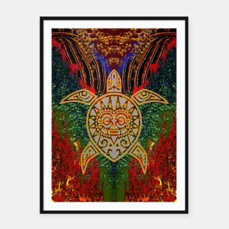 Miniatur  Turtle Worship Framed poster, Live Heroes