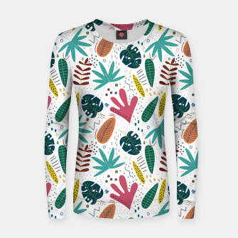 Thumbnail image of Exotic leaves Sudadera para mujeres, Live Heroes