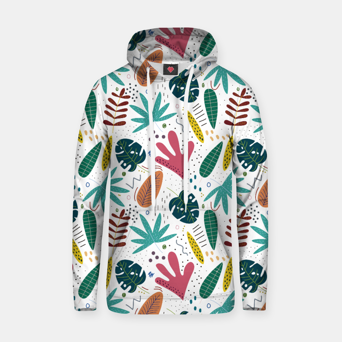 Image of Exotic leaves Sudadera con capucha - Live Heroes