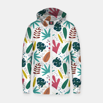 Thumbnail image of Exotic leaves Sudadera con capucha y cremallera , Live Heroes