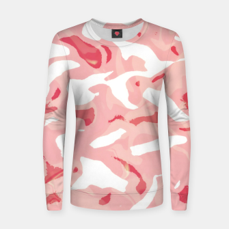 Thumbnail image of Cute pink camouflage Women sweater, Live Heroes