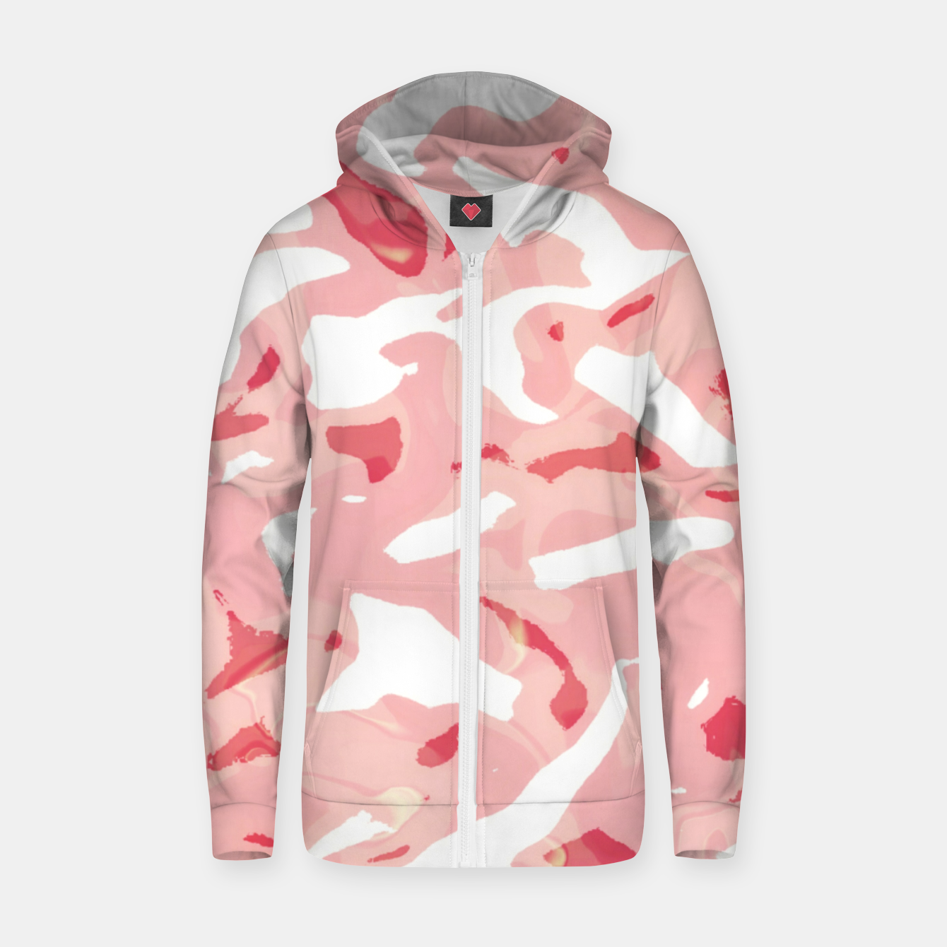 Image of Cute pink camouflage Zip up hoodie - Live Heroes