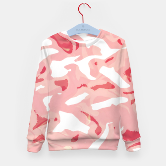 Cute pink camouflage Kid's sweater thumbnail image
