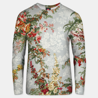Floral in grey Unisex sweater thumbnail image