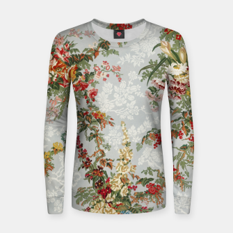 Floral in grey Women sweater thumbnail image