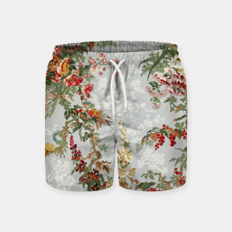 Floral in grey Swim Shorts thumbnail image