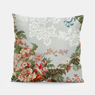 Floral in grey Pillow thumbnail image