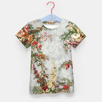 Floral in grey Kid's t-shirt thumbnail image