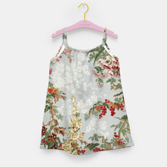 Floral in grey Girl's dress thumbnail image