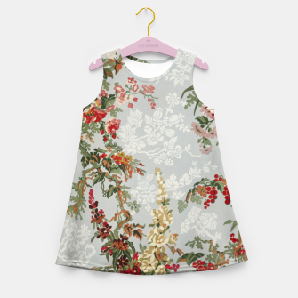 Floral in grey Girl's summer dress thumbnail image