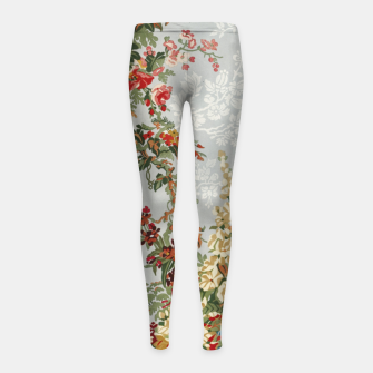 Floral in grey Girl's leggings thumbnail image