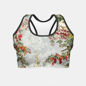 Floral in grey Crop Top thumbnail image