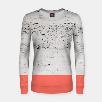 Living Coral on Concrete #1 #decor #art Frauen sweatshirt obraz miniatury