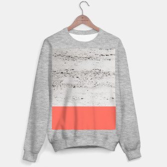 Living Coral on Concrete #1 #decor #art Sweatshirt regulär obraz miniatury