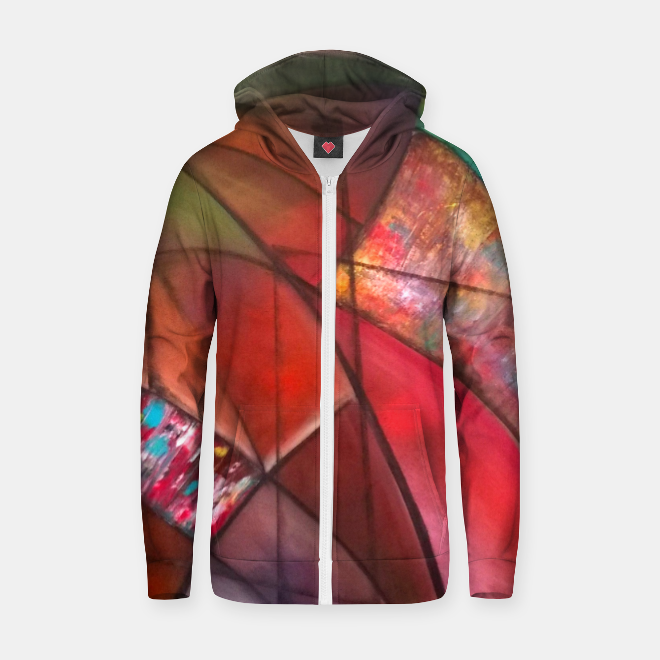 Image of fara nume Zip up hoodie - Live Heroes