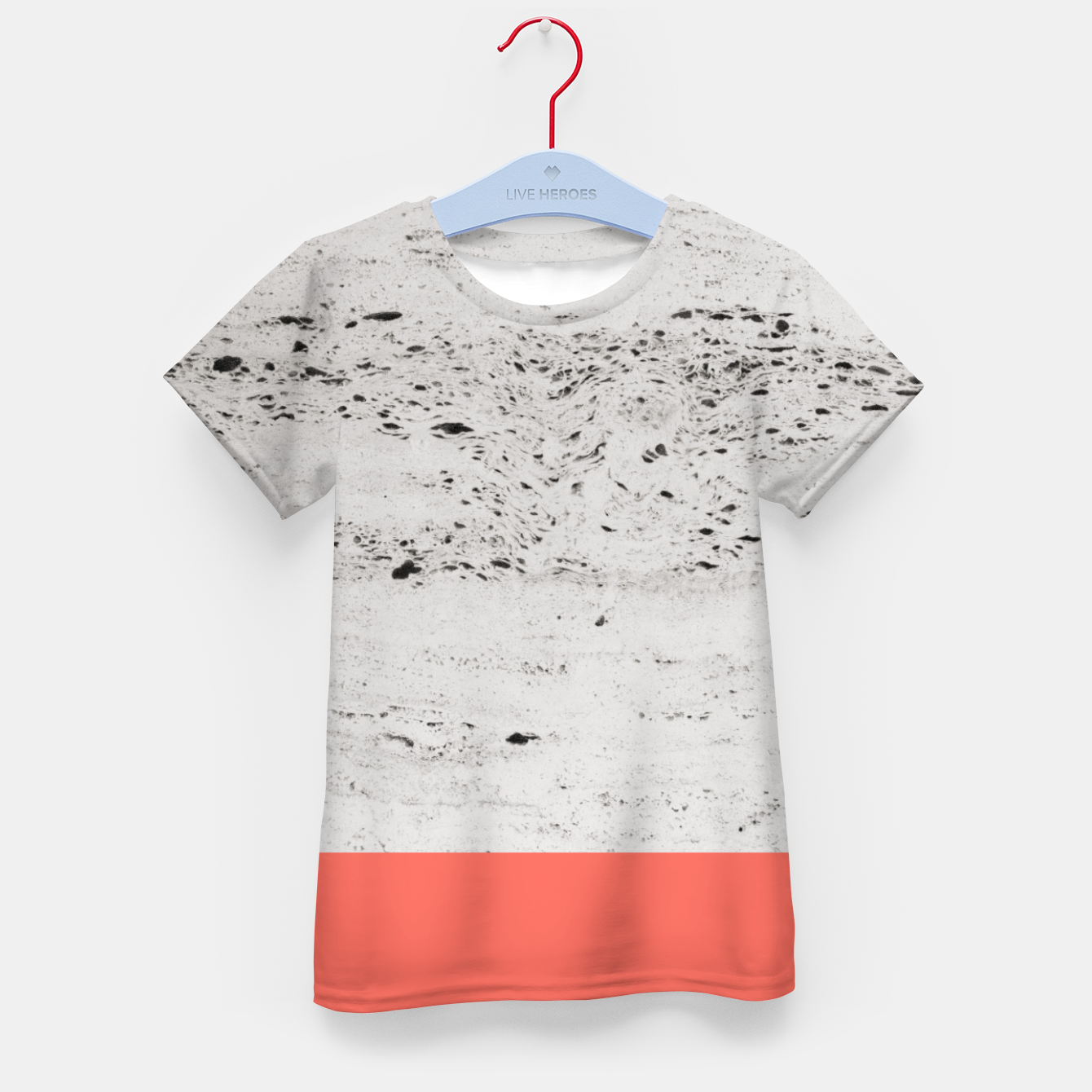 Zdjęcie Living Coral on Concrete #1 #decor #art T-Shirt für kinder - Live Heroes