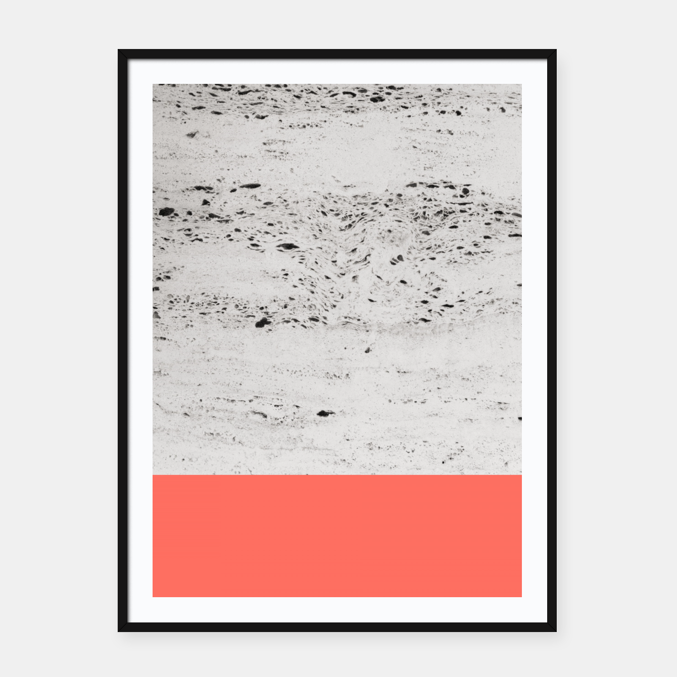 Zdjęcie Living Coral on Concrete #1 #decor #art Plakat mit rahmen - Live Heroes