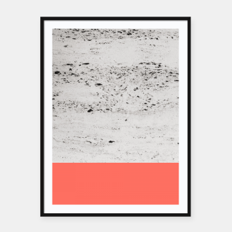 Living Coral on Concrete #1 #decor #art Plakat mit rahmen thumbnail image