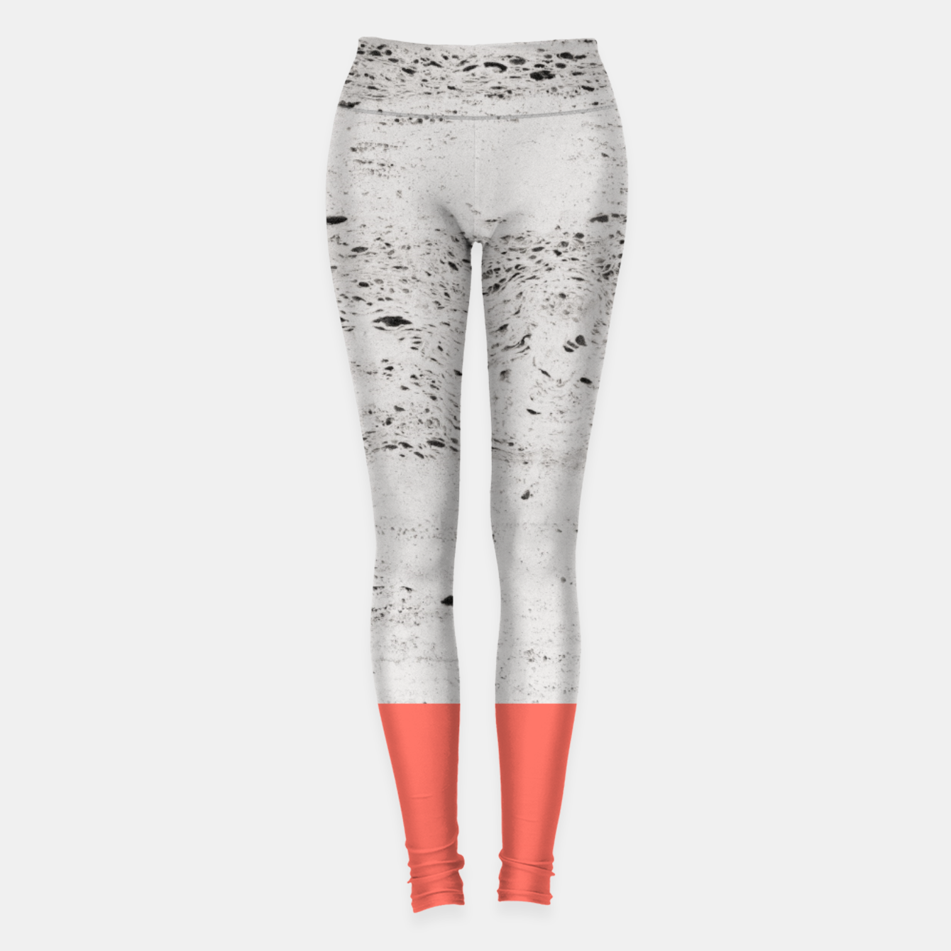 Zdjęcie Living Coral on Concrete #1 #decor #art Leggings - Live Heroes