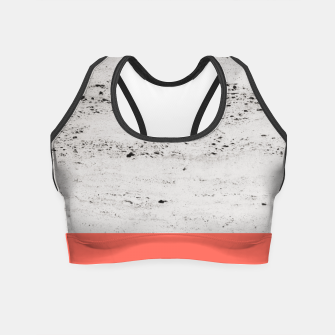 Miniaturka Living Coral on Concrete #1 #decor #art Crop Top, Live Heroes