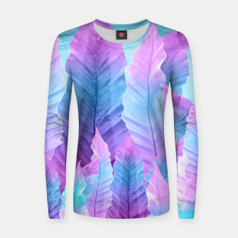 Underwater Leaves Vibes #1 #decor #art Frauen sweatshirt thumbnail image