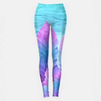 Underwater Leaves Vibes #1 #decor #art Leggings obraz miniatury