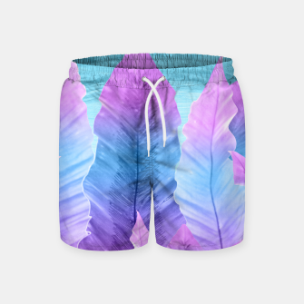 Underwater Leaves Vibes #1 #decor #art Badeshorts thumbnail image