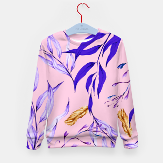 Floral Boho Watercolor Pattern Kindersweatshirt thumbnail image