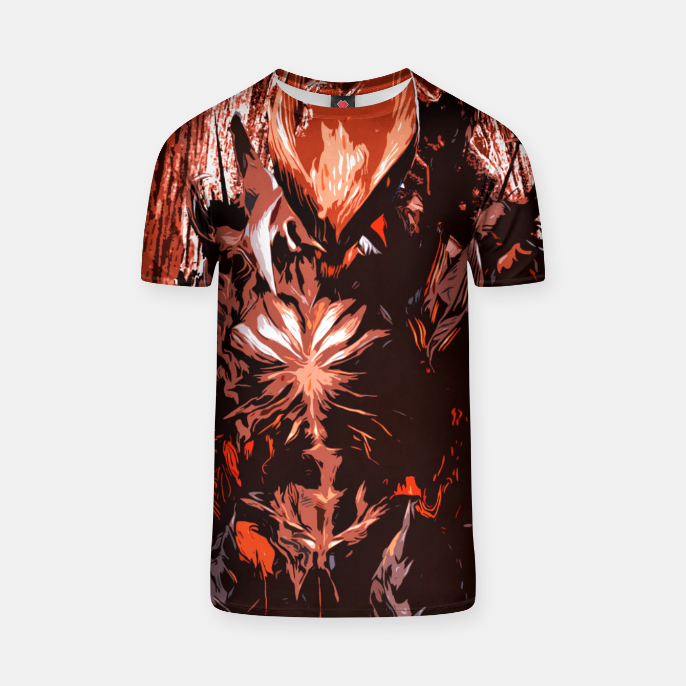 Image of Red Supreme Demon Camiseta - Live Heroes
