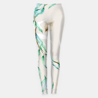 Floral Boho Watercolor Pattern Leggings thumbnail image