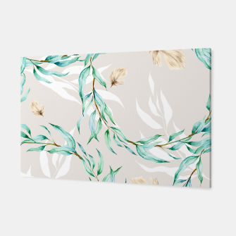 Floral Boho Watercolor Pattern Canvas thumbnail image