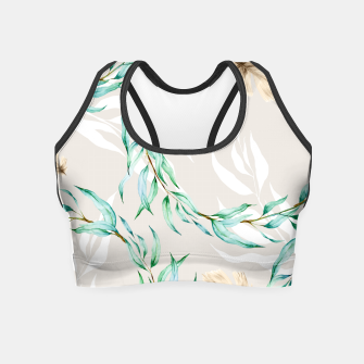 Floral Boho Watercolor Pattern Crop Top thumbnail image