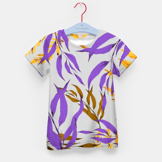 Floral Boho Watercolor Pattern T-Shirt für kinder thumbnail image