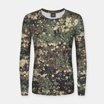 Thumbnail image of Hexagonal camouflage Women sweater, Live Heroes