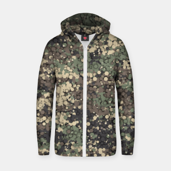 Thumbnail image of Hexagonal camouflage Zip up hoodie, Live Heroes