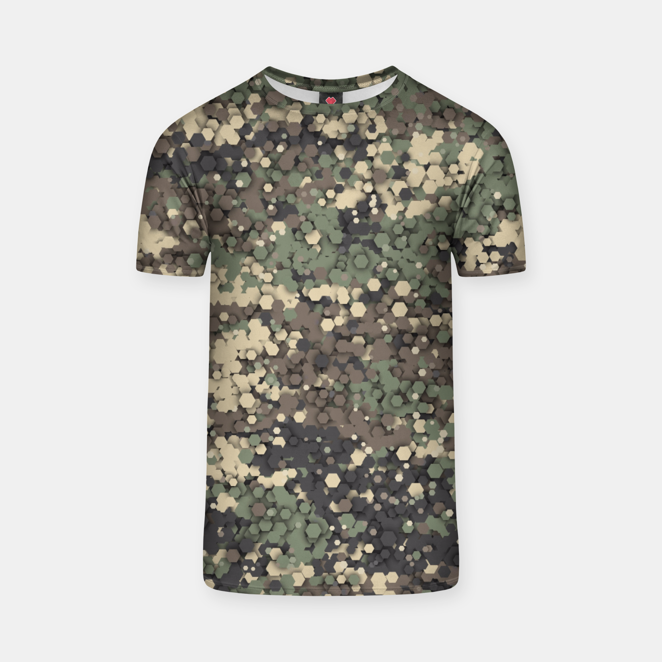 Image of Hexagonal camouflage T-shirt - Live Heroes