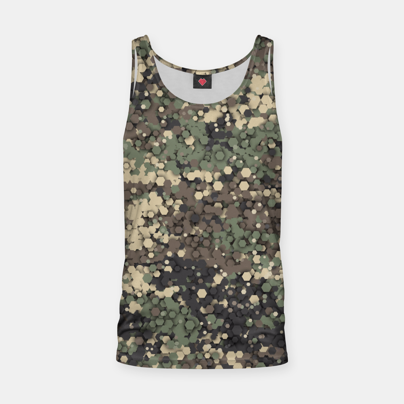 Image of Hexagonal camouflage Tank Top - Live Heroes