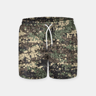 Thumbnail image of Hexagonal camouflage Swim Shorts, Live Heroes